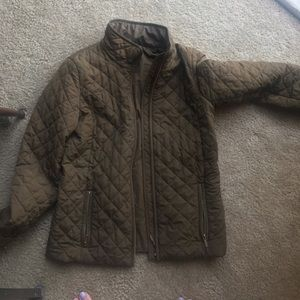 Jcrew Green Quilted Jacket XS
